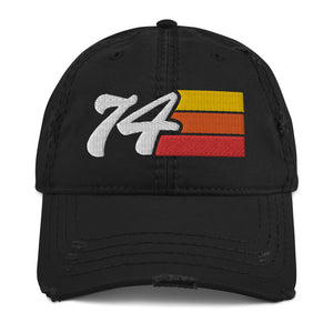 Vintage 74 Distressed Dad Hat