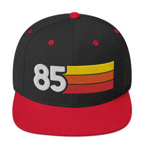 1985 RETRO NUMBER 85 BIRTHDAY REUNION ANNIVERSARY CUSTOM EMBROIDERED SNAPBACK HAT