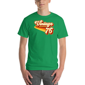 Vintage 1976 Warm Retro Lines CLASSIC FIT Unisex Short-Sleeve T-Shirt