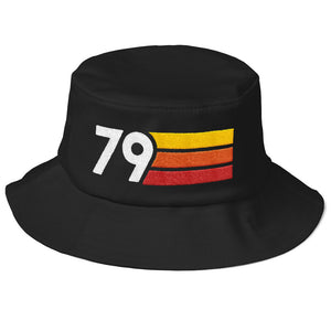 Retro 1979 40th Birthday Old School Bucket Hat