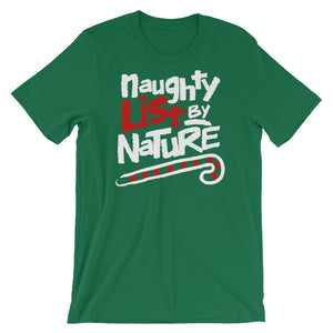 90's Rap Hiphop Naughty List By Nature Christmas Short-Sleeve Unisex T-Shirt - Styleuniversal