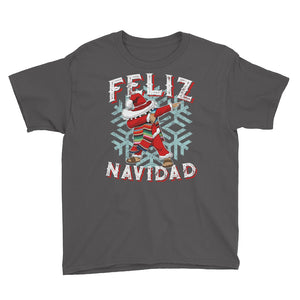 Feliz Navidad Mexico Dabbing Christmas Youth Short Sleeve T-Shirt