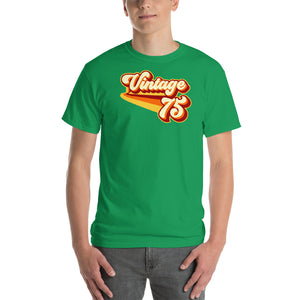 Vintage 1975 Warm Retro Lines CLASSIC FIT Unisex Short-Sleeve T-Shirt