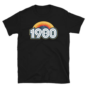 1980 Retro Horizon Short-Sleeve Unisex T-Shirt