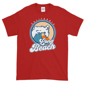 Long Beach California Short-Sleeve T-Shirt - Styleuniversal