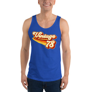 Vintage 1978 Warm Retro Lines Unisex  Tank Top