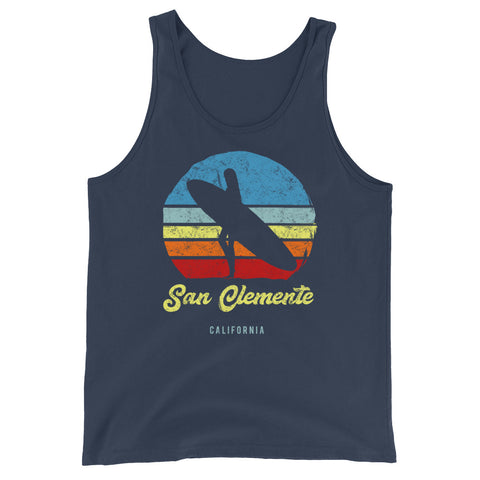 San Clemente California Retro Surf Unisex  Tank Top