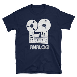 Reel to Reel Magnetic Tape Analog Retro Audio Short-Sleeve Unisex T-Shirt