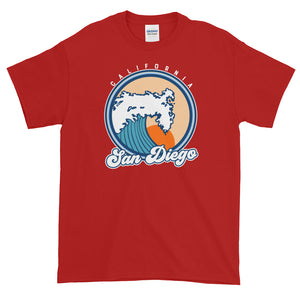 San Diego California Surf Short-Sleeve T-Shirt - Styleuniversal