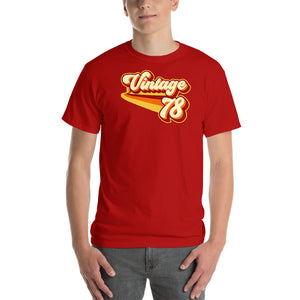 Vintage 1978 Warm Retro Lines CLASSIC FIT Short-Sleeve T-Shirt