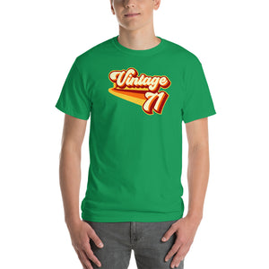 Vintage 1971 Warm Retro Lines CLASSIC FIT Short-Sleeve T-Shirt