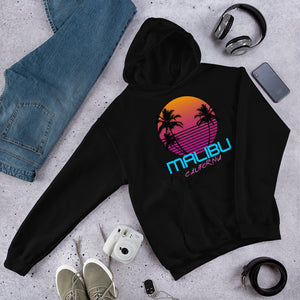 Malibu California Retro 80's Hooded Sweatshirt