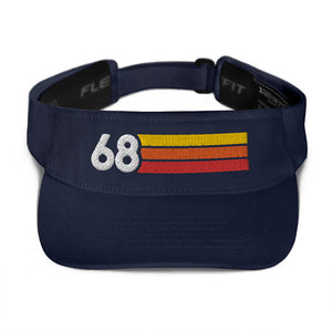 1968 Retro Birthday Anniversary Reunion Number 68 Visor