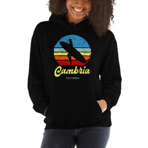 Cambria California Surfer Girl Retro Hoodie - Styleuniversal