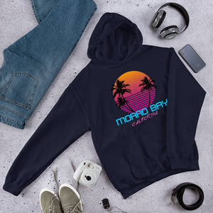 Morro Bay California Retro 80's Hooded Sweatshirt