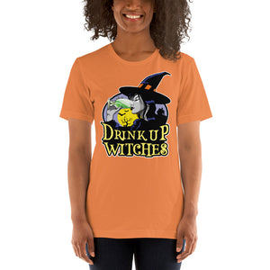 Drink Up Witches Halloween Short-Sleeve Unisex T-Shirt