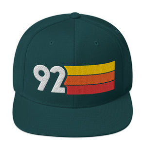 1992 RETRO NUMBER 92 BIRTHDAY REUNION ANNIVERSARY CUSTOM EMBROIDERED SNAPBACK HAT