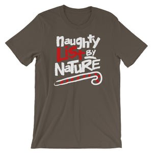 Christmas Holiday Naughty List By Nature 90's Hiphop Short-Sleeve Unisex T-Shirt - Styleuniversal
