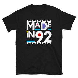 Made in 1992 Retro 90s Short-Sleeve Unisex T-Shirt