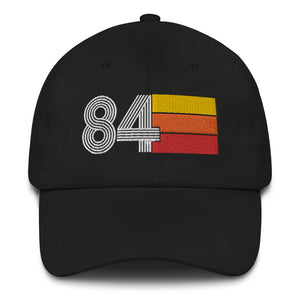 Retro 1984 Vintage Birthday Baseball Expo Dad hat