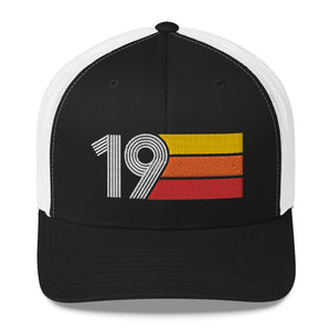 2019 RETRO BIRTHDAY GIFT NUMBER 19 MENS WOMENS TRUCKER HAT