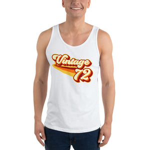 Vintage 1972 Warm Retro Lines Unisex  Tank Top
