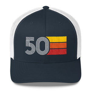 1950 Retro Birthday Gift Mens Womens Trucker Cap