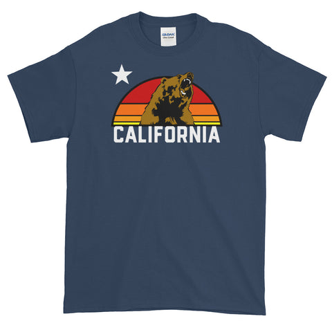 California Republic Retro Grizzly Bear Short-Sleeve T-Shirt