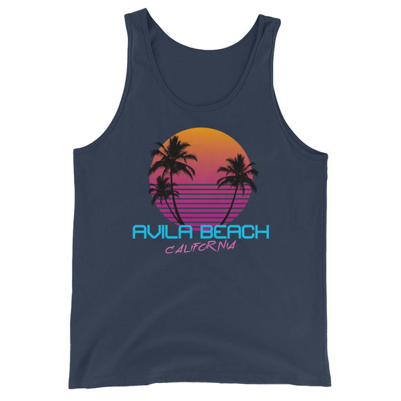 Avila Beach California Retro 80's Unisex  Tank Top - Styleuniversal
