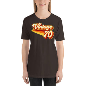 Vintage 1970 Warm Retro Lines Short-Sleeve Unisex SLIM FIT T-Shirt