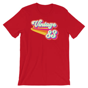 Vintage 1983 Retro Colors Short-Sleeve Unisex T-Shirt