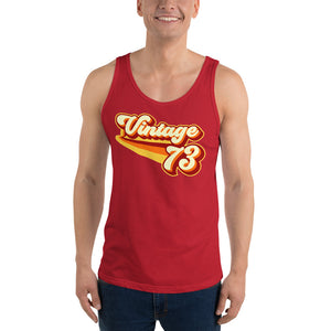 Vintage 1973 Warm Retro Lines Unisex  Tank Top