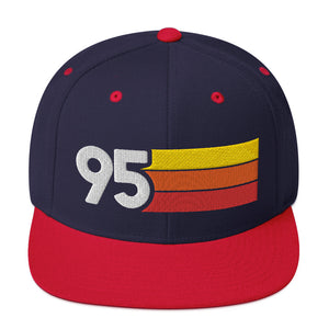 1995 RETRO NUMBER 95 BIRTHDAY REUNION ANNIVERSARY CUSTOM EMBROIDERED SNAPBACK HAT
