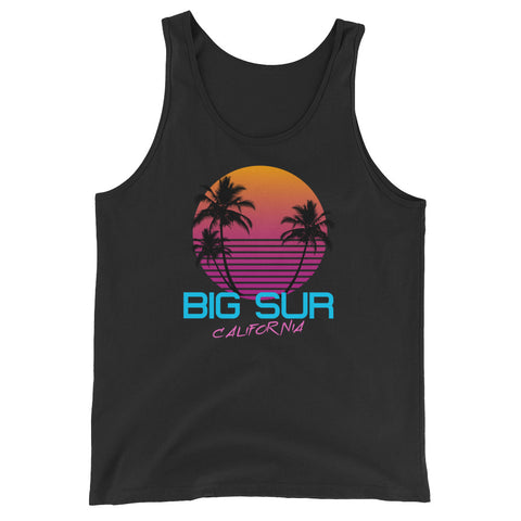 Big Sur California Retro 80's Unisex  Tank Top