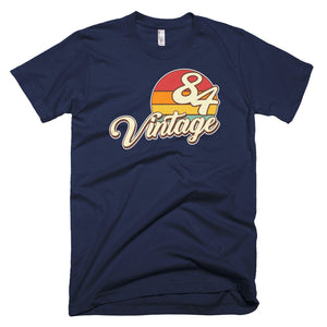 Vintage 1984 Retro Birthday Short-Sleeve T-Shirt - Styleuniversal