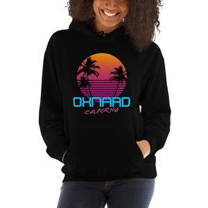 Oxnard California Retro 80's Hooded Sweatshirt