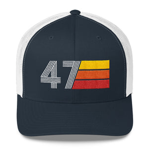 1947 RETRO BIRTHDAY GIFT MENS WOMENS Trucker Cap
