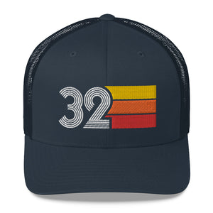 1932 RETRO BIRTHDAY GIFT Number 32 MENS WOMENS TRUCKER CAP