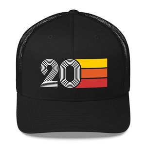 1920 2020 RETRO BIRTHDAY GIFT NUMBER 20 MENS WOMENS TRUCKER HAT