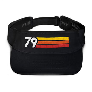 1979 RETRO BIRTHDAY ANNIVERSARY REUNION NUMBER 79 VISOR