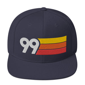1999 RETRO NUMBER 99 BIRTHDAY REUNION ANNIVERSARY CUSTOM EMBROIDERED SNAPBACK HAT