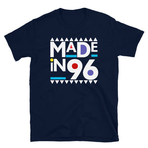Made in 1996 Retro 90s Short-Sleeve Unisex T-Shirt
