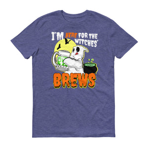I'm Here for the Witches' Brews Halloween Short-Sleeve T-Shirt - Styleuniversal