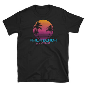Avila Beach California Retro 80's Short-Sleeve Unisex T-Shirt