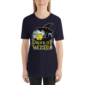 Drink Up Witches Funny Halloween Women's Men's Short-Sleeve Unisex T-Shirt