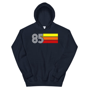 Retro Expo 1985 Men's Women's Unisex Hooded Sweatshirt