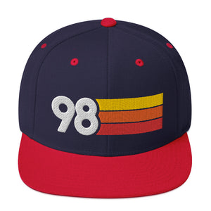 1998 Retro Birthday Anniversary Reunion Number 98 Snapback Hat