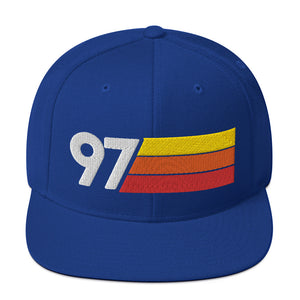 1997 RETRO NUMBER 97 BIRTHDAY REUNION ANNIVERSARY CUSTOM EMBROIDERED SNAPBACK HAT