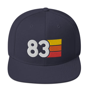 1983 3D Puff Embroidery Snapback Hat