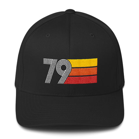 Retro 1979 Birthday Structured Twill Cap